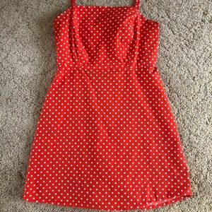 Urban outfitters short red polka dot dress